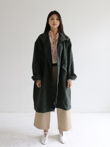 UNLINED OVERSIZED COAT