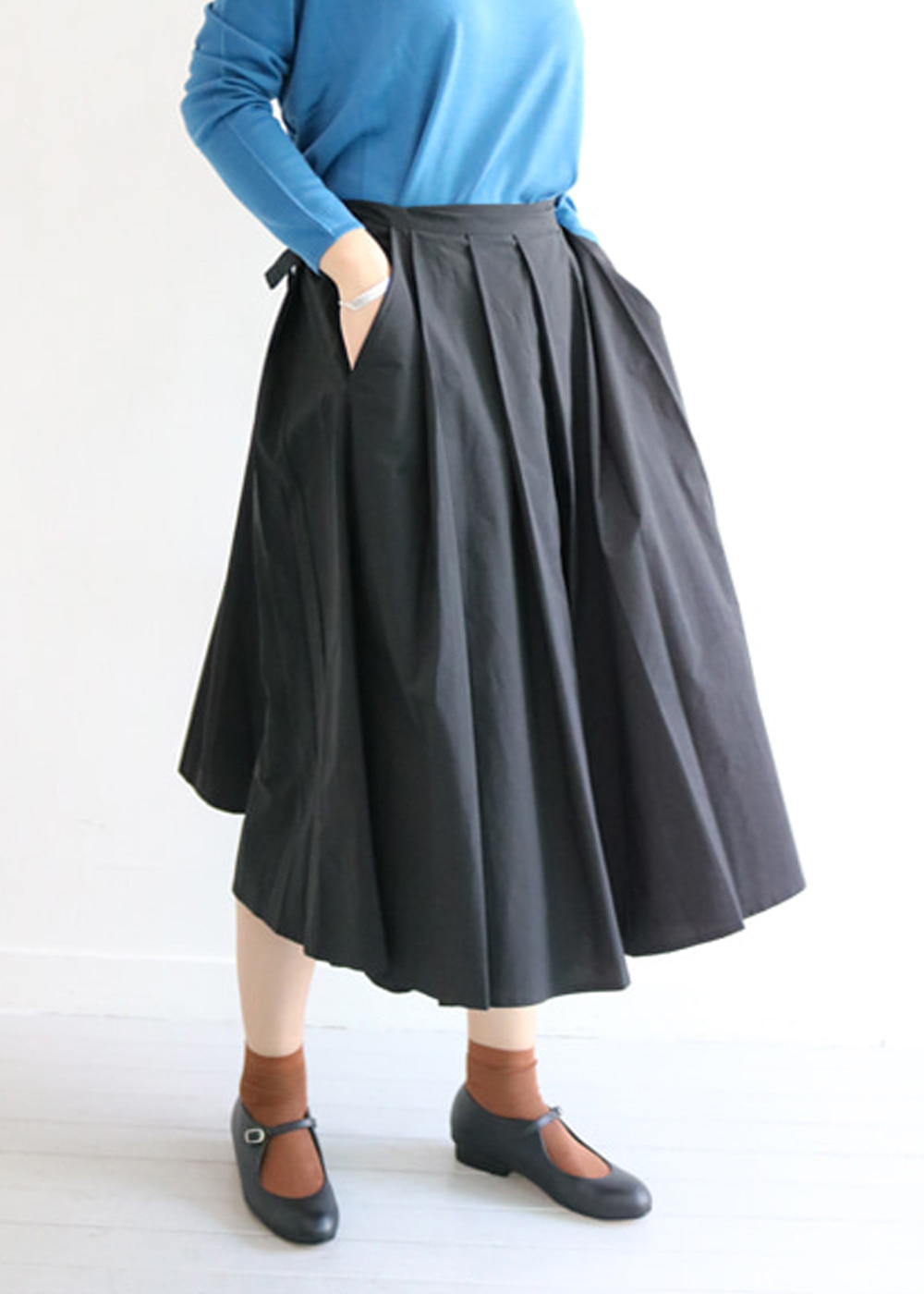 COTTON WRAP SKIRT - nerro