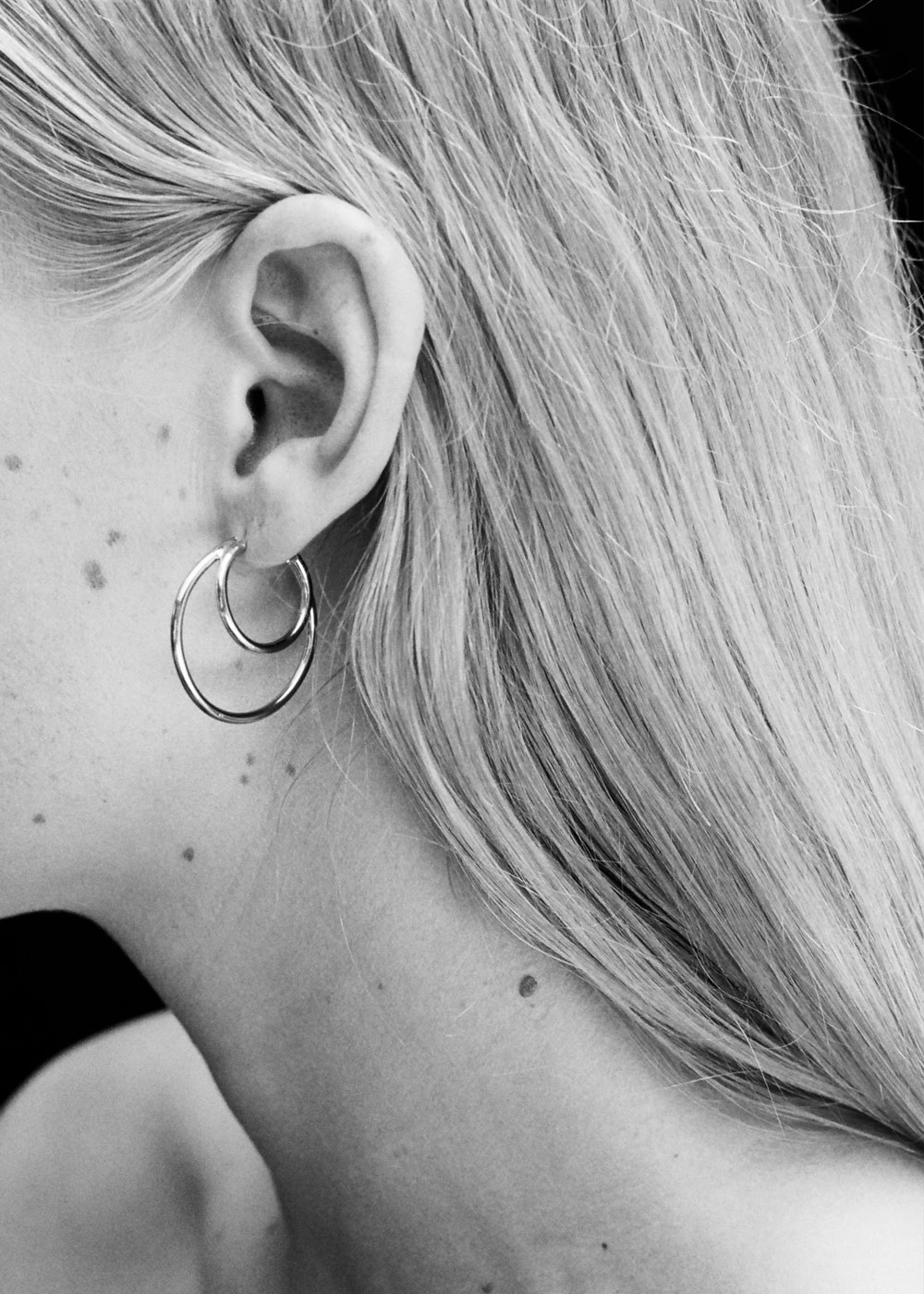 DOUBLE LAYERED HOOPS