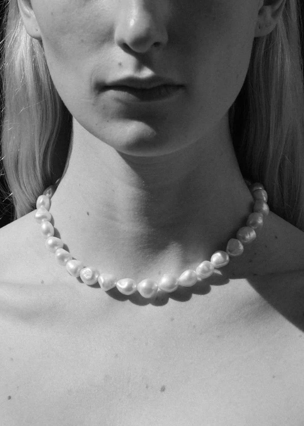 SIMPLE BAROQUE PEARL COLLAR