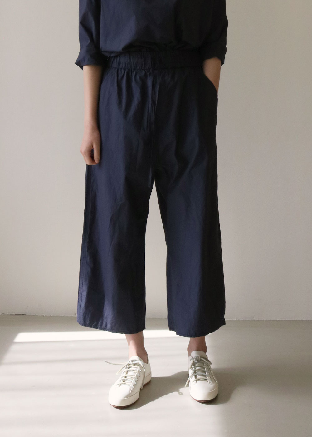 WIDE & SHORT TROUSERS TC - navy