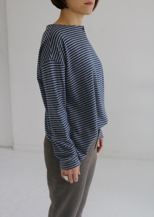 SHIRT STRIPE WOOL JERSEY