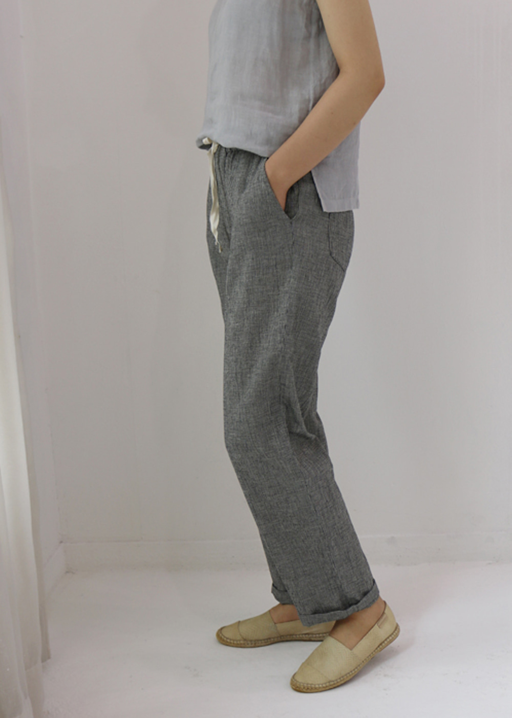 HOUNDSTOOTH CHECK EASY PANTS