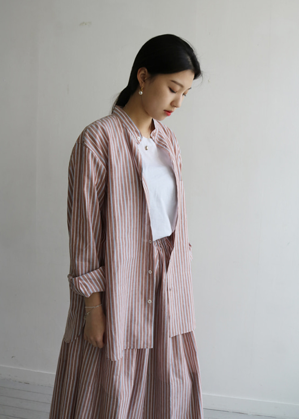 COTTON & LINEN MAO SHIRT III
