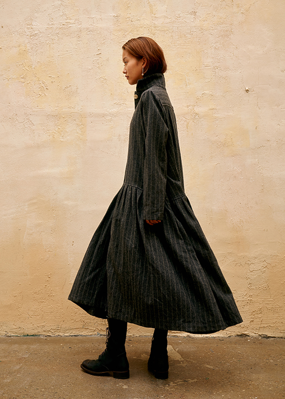 BD DOUBLE STRIPE WOOL COAT