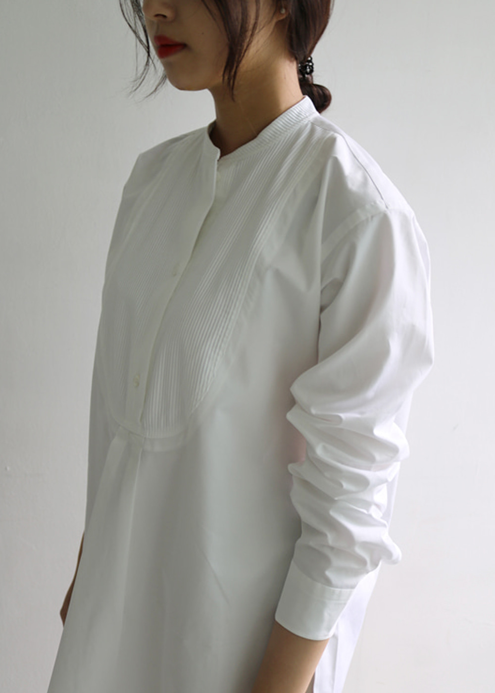SHIRT WITH PLASTRON FRONT