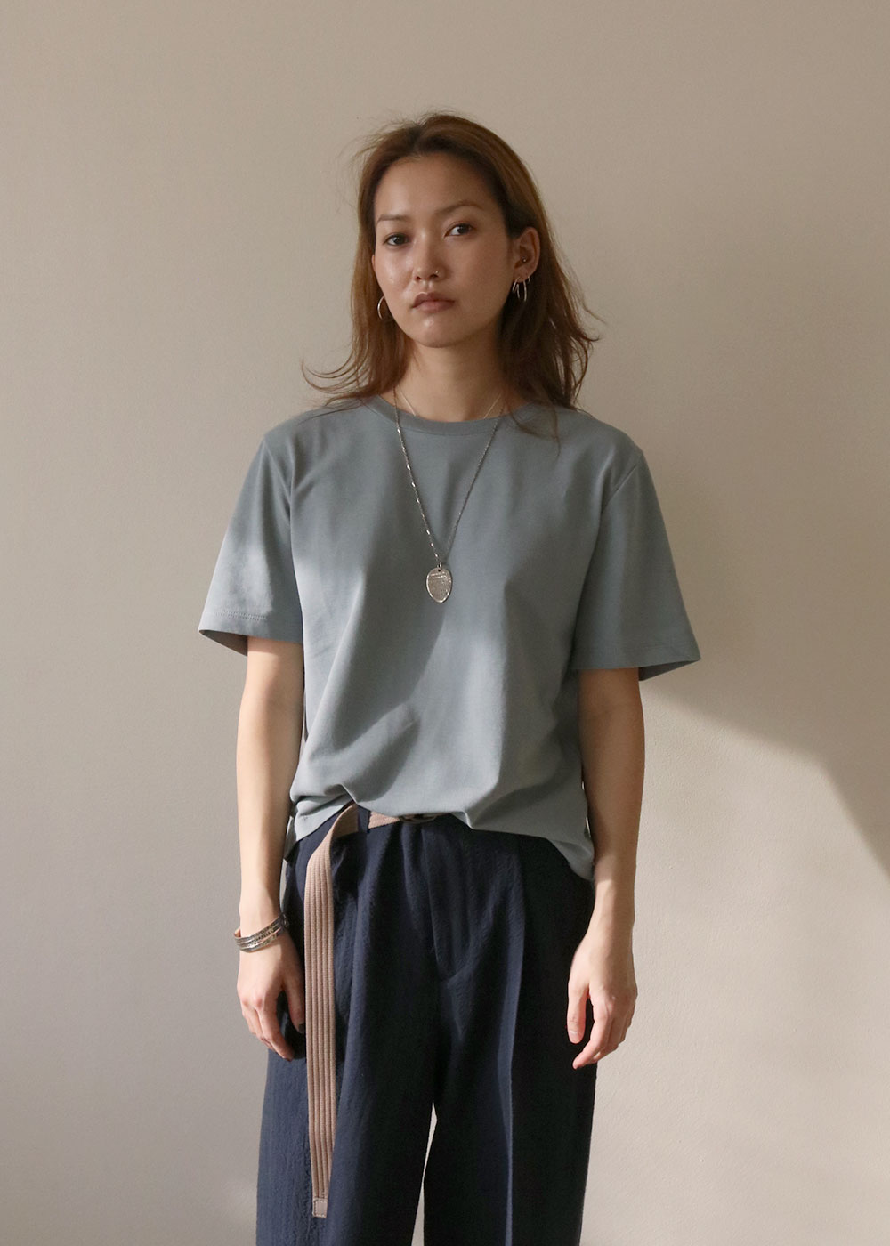 ESSENTIAL T SHIRT - green grey