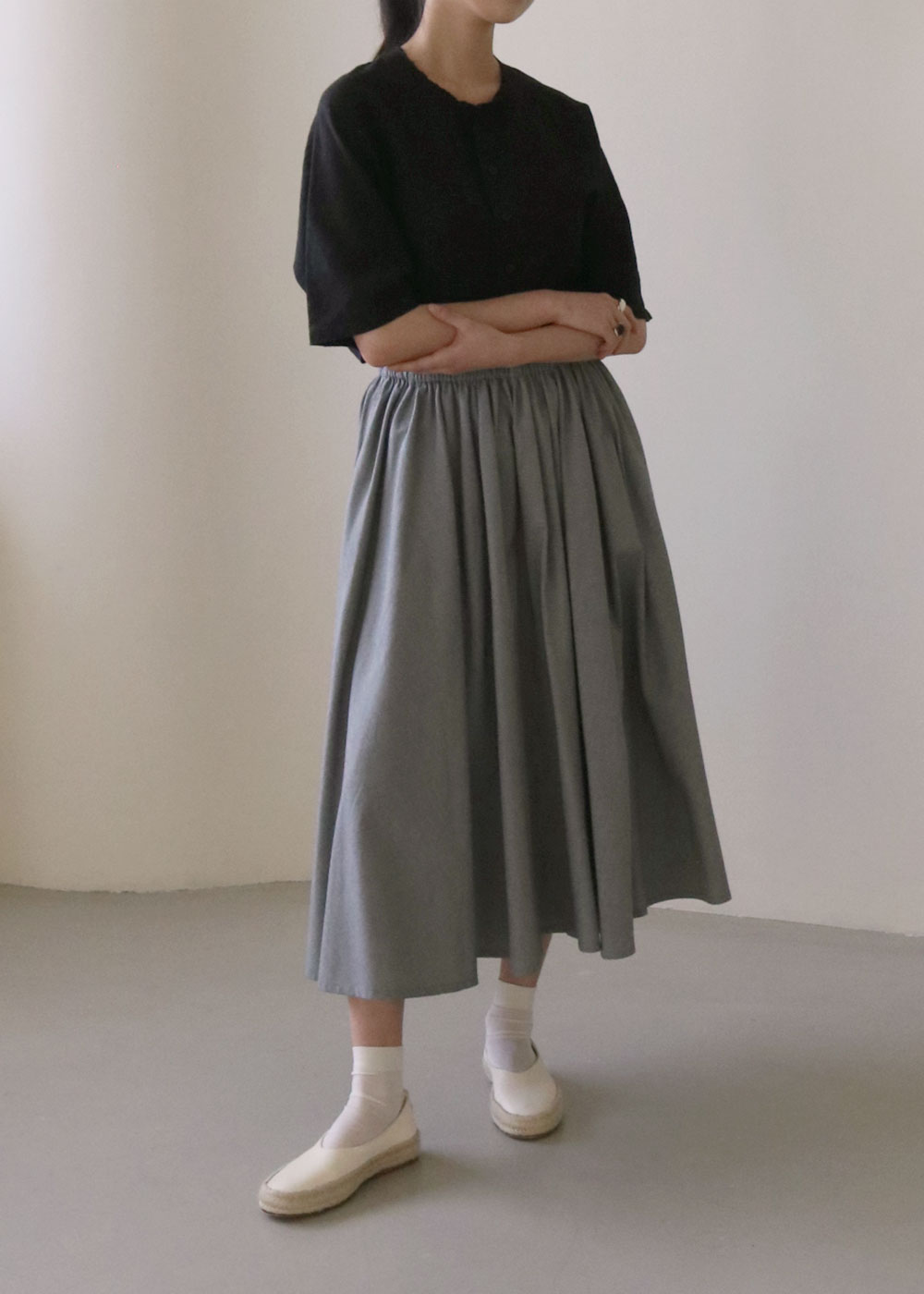 COTTON HOUNDSTOOTH / CIRCULAR SKIRT