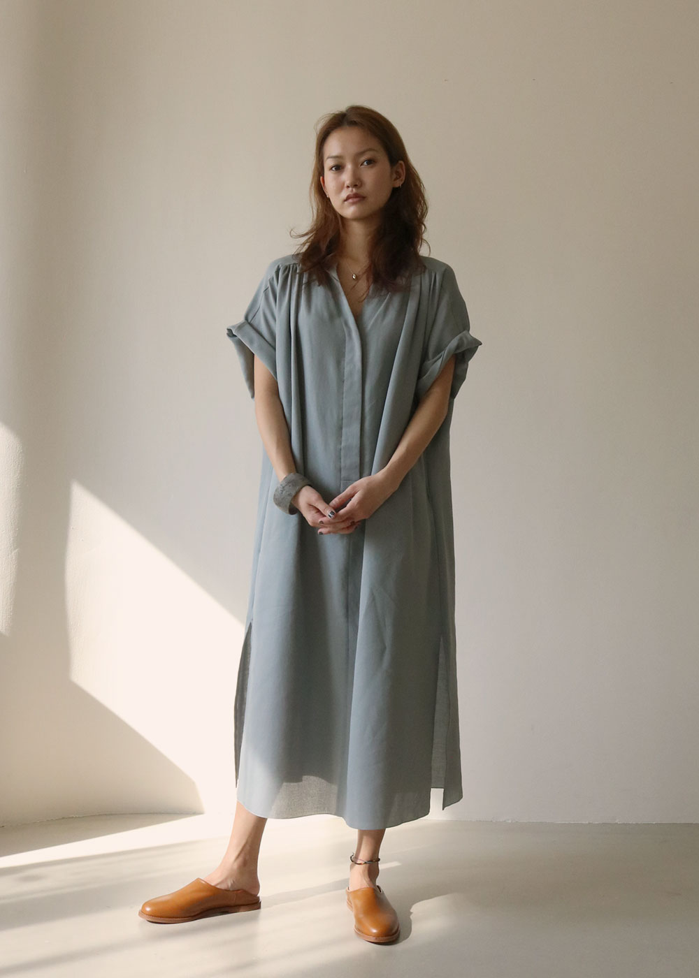 SEYA. DRESS - green grey