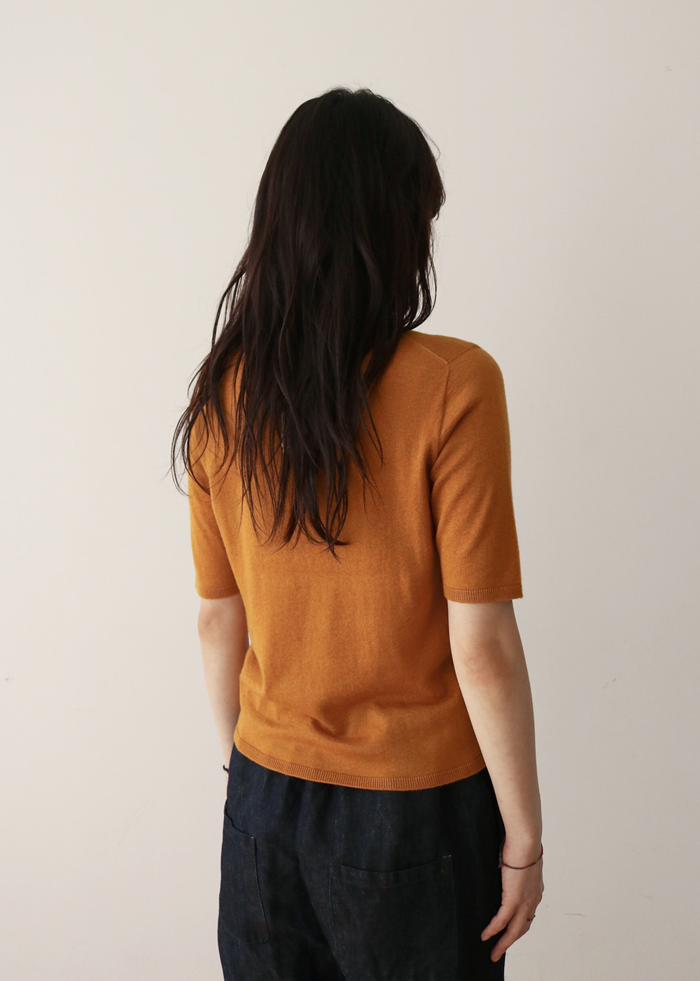 KNIT TOP - pumpkin