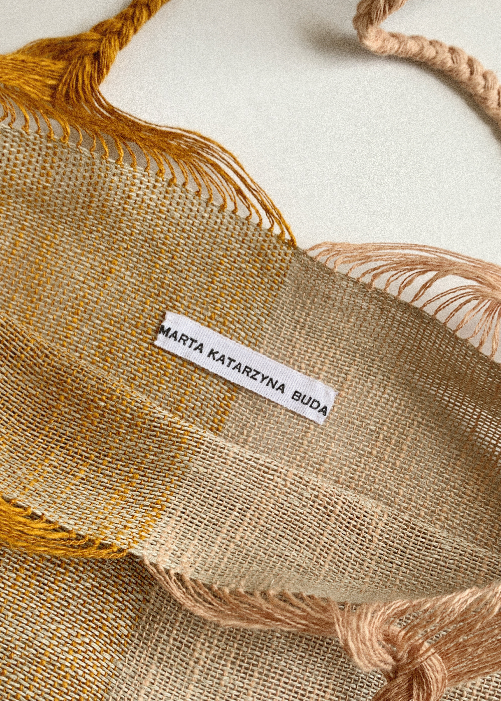 HANDWOVEN BAG - pink clay / ochre