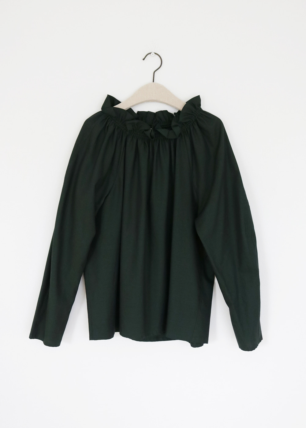HAZEL LS BLOUSE - highlands / dark green