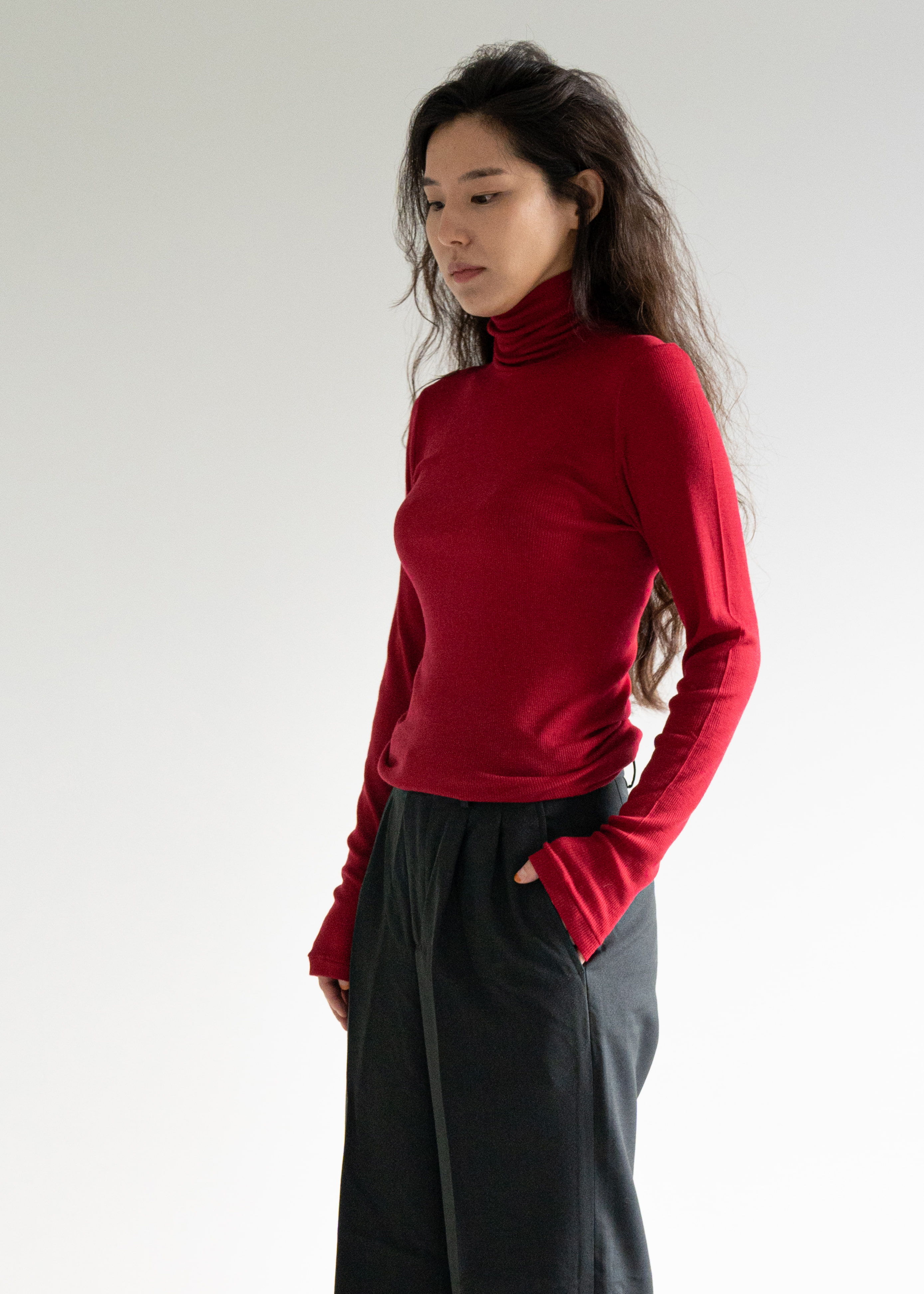 TURTLENECK SWEATER - fuchsia