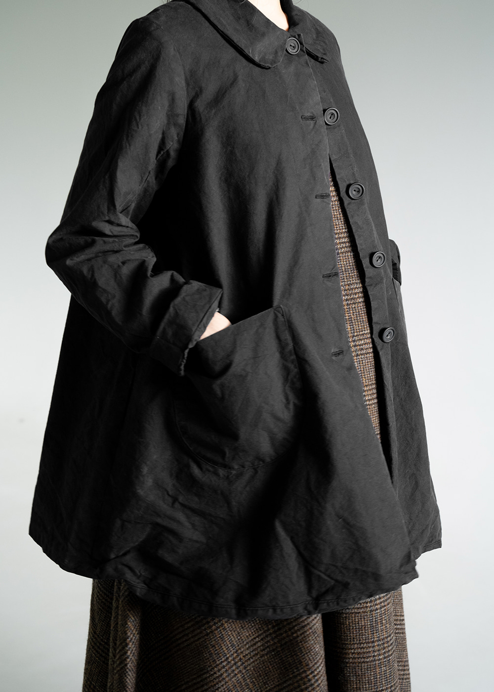 FOG LONG COAT - black