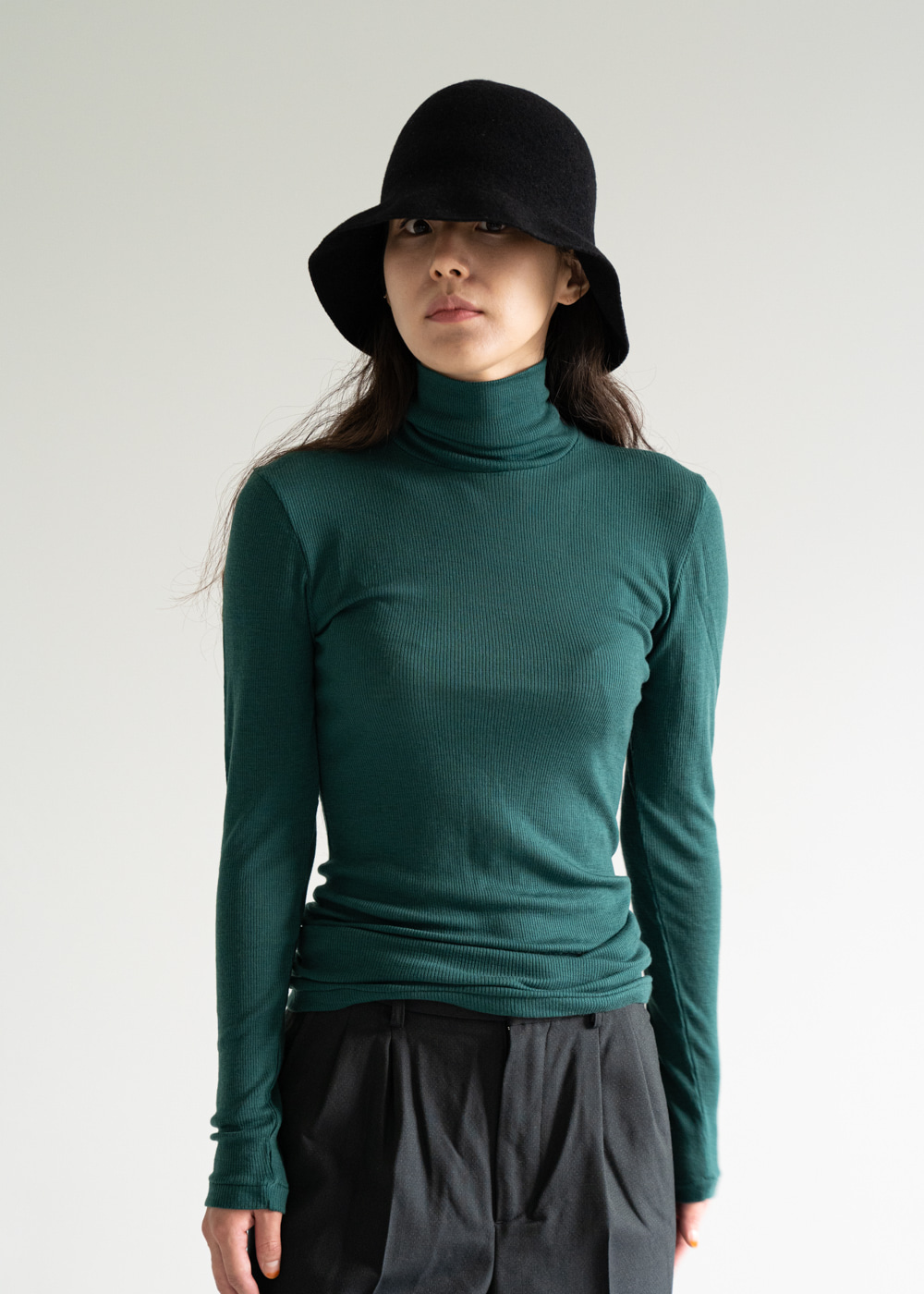 TURTLENECK SWEATER - emerald