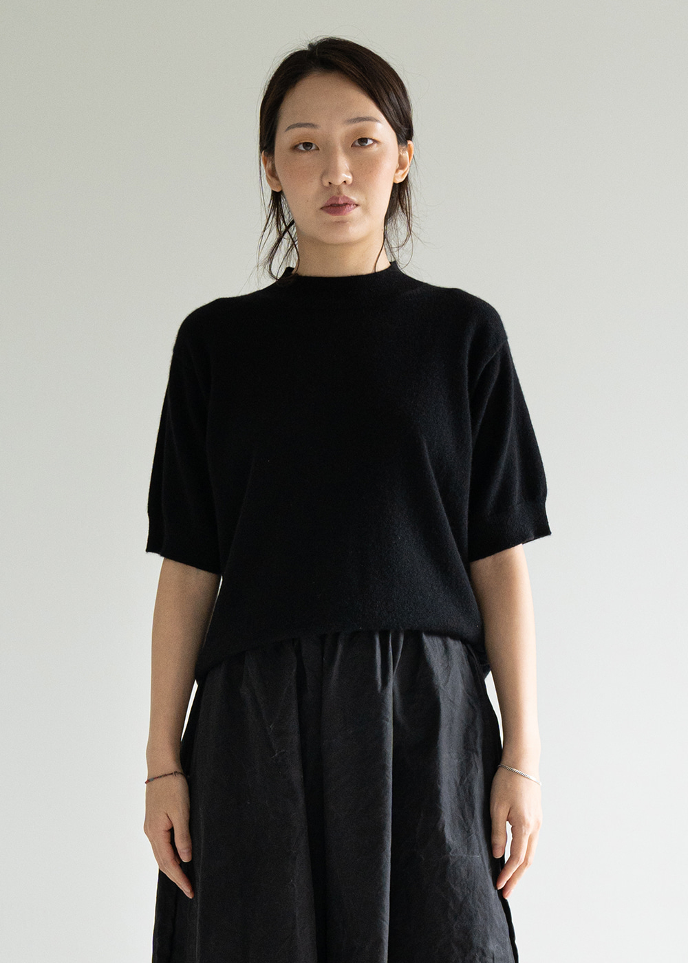MATISSE CASHMERE KNIT TOP - black
